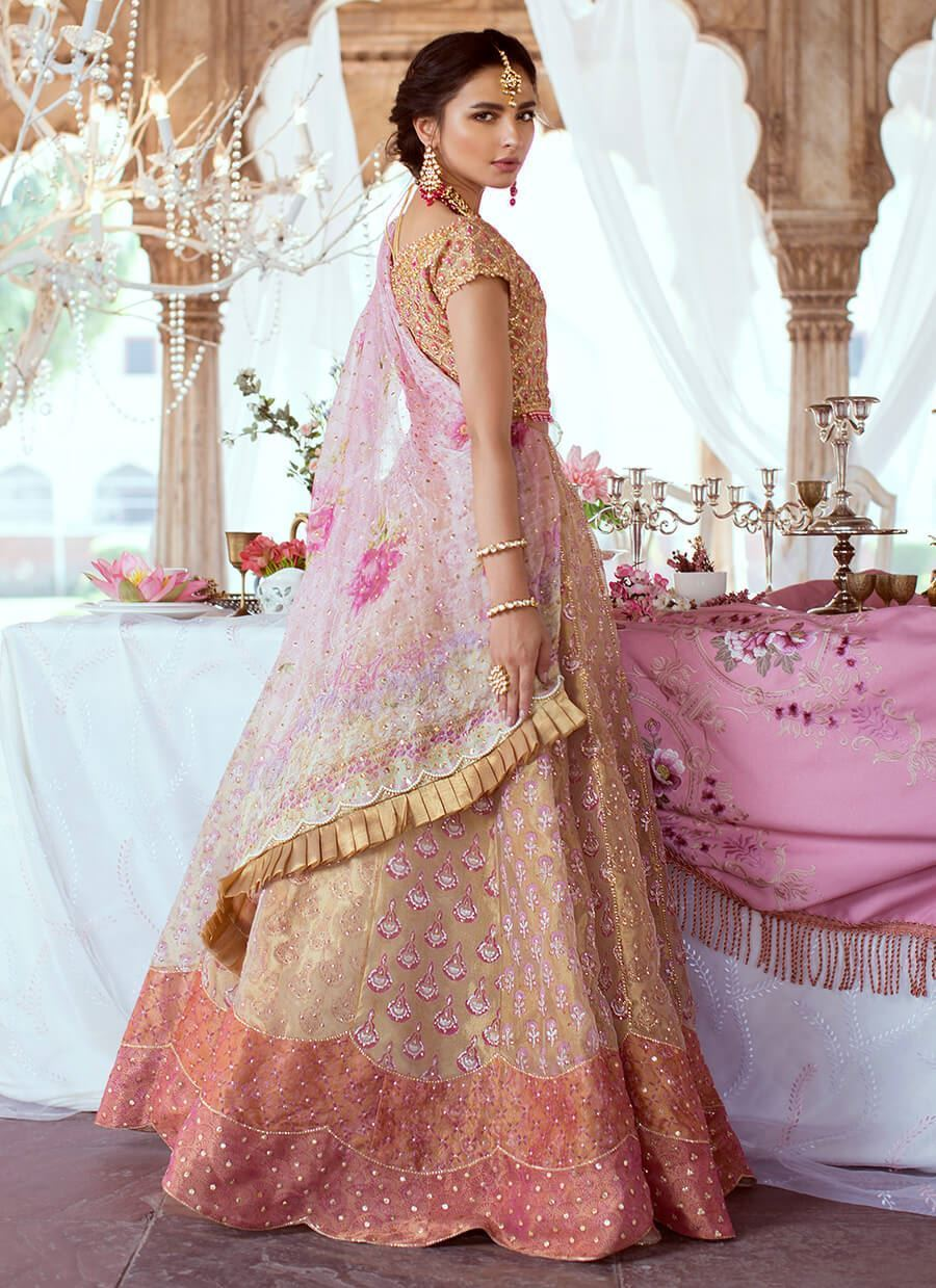 Rose Gold Lehnga Choli