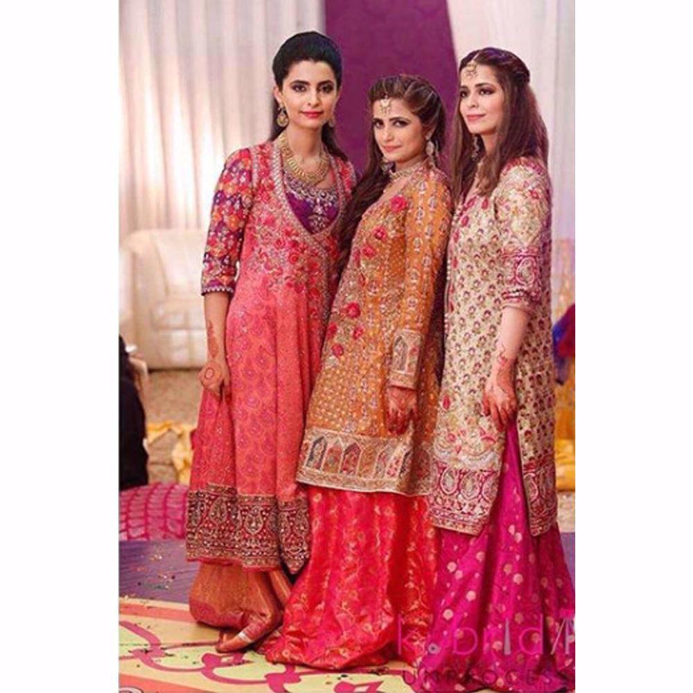 Picture of Gorgeous sisters looking uber festive in Farah Talib Aziz wedding wear