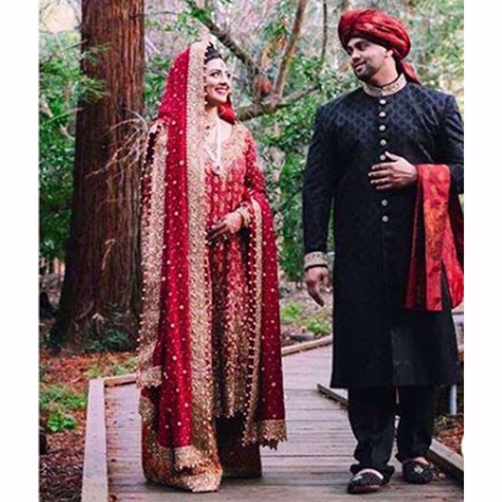 Picture of The beauty of a traditional red bridal