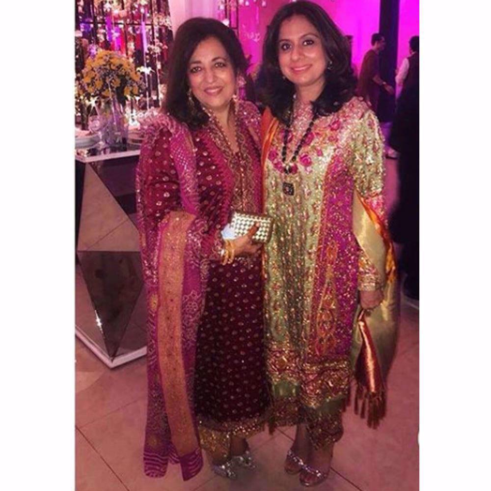 Picture of Farah Talib Aziz and Naureen Hasan, gorgeous in beautifully festive Farah Talib Aziz wedding wear