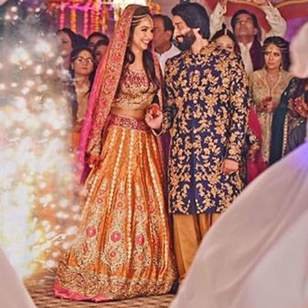 Picture of Show stopping Farah Talib Aziz Mehndi brides that leave you mesmerised