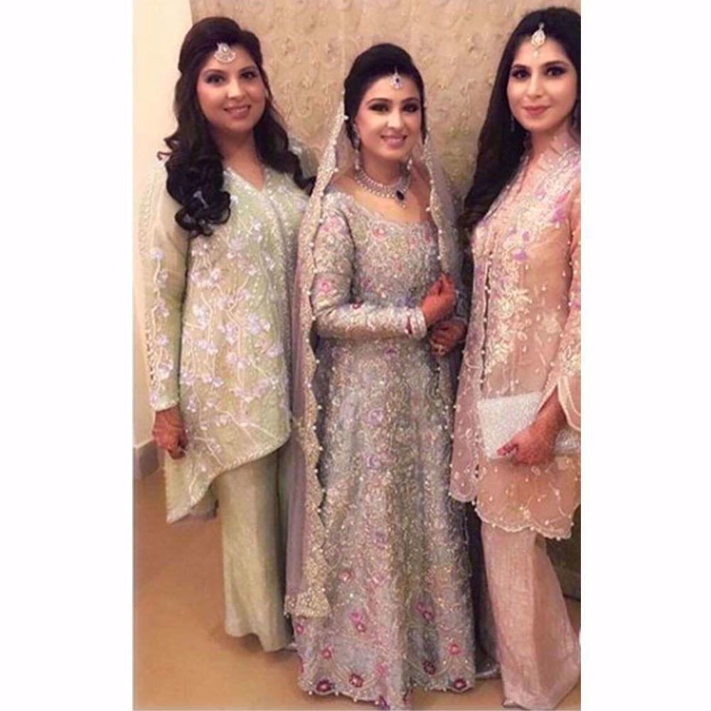 Picture of Gorgeous Bushra and her sisters all in Farah Talib Aziz