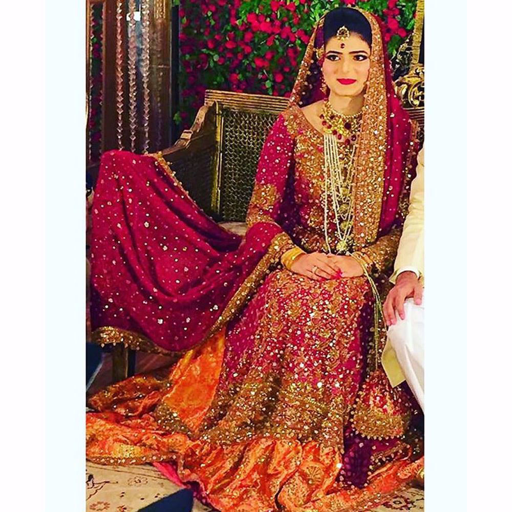 Picture of Zainab looking absolutely regal in a red