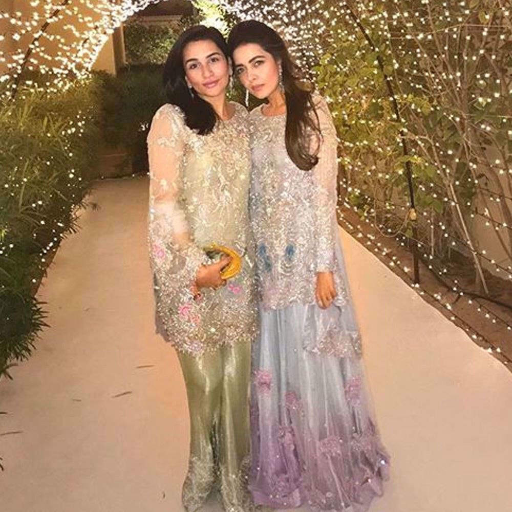Picture of Our favourite beauties Sana Ansari and Maliha Aziz shimmering in pastel Farah Talib Aziz ensembles