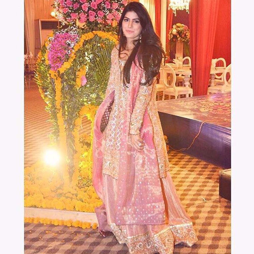 Picture of Rose gold custom made Farah Talib Aziz ensemble