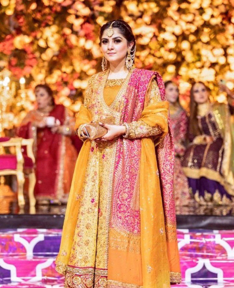 Picture of Rabia Wahab is a real head-turner in a #FarahTalibAziz forever favourite - the kalidaar, in perfectly festive colours