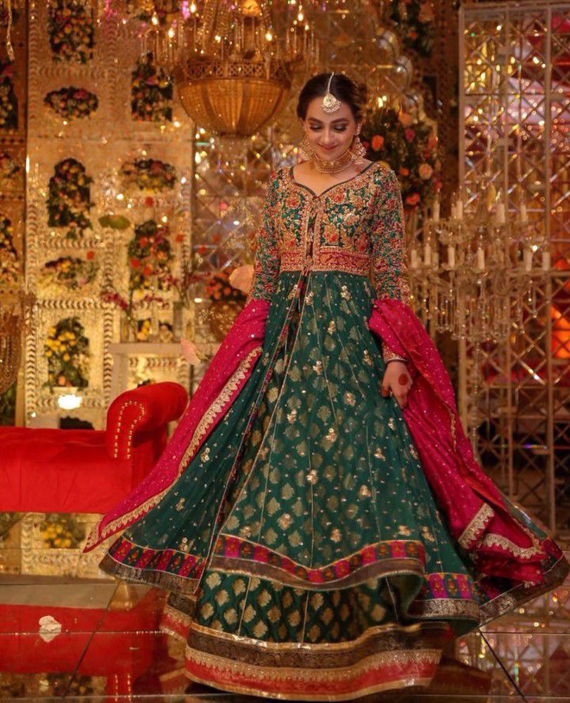 Picture of Evoking feelings of regal femininity and the grandeur of times past with flowing silhouettes and cascading dupattas
